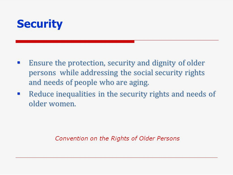 Convention on the Rights of Older Persons