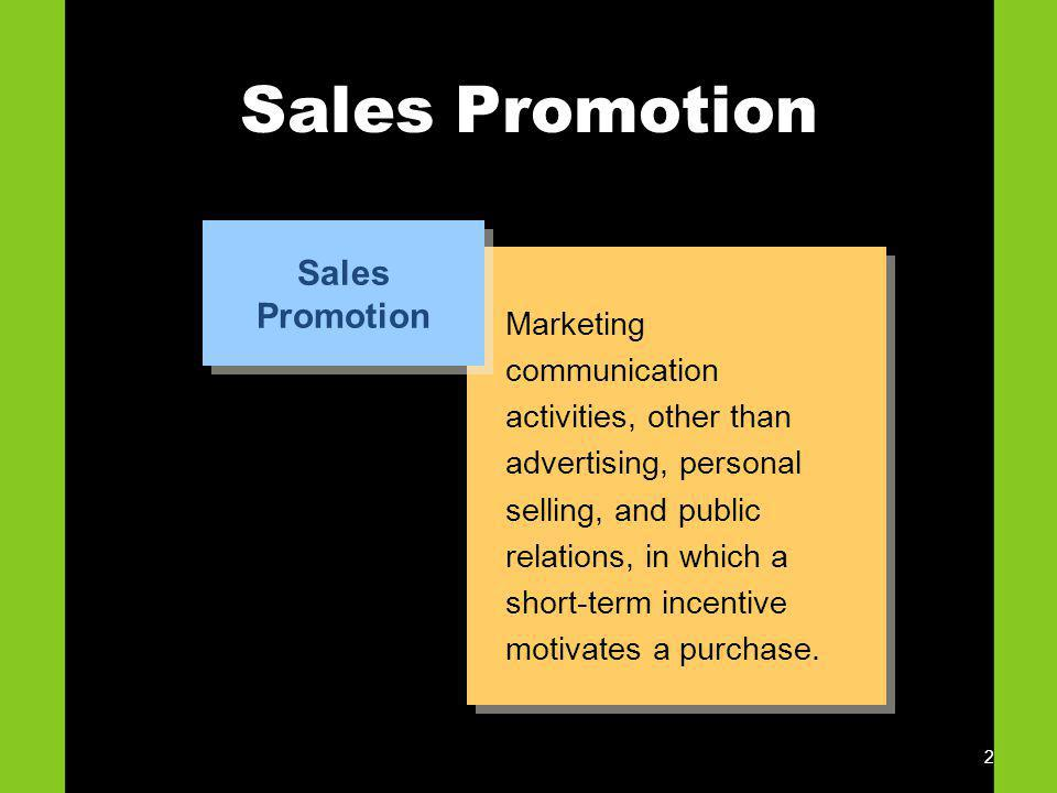 Sales Promotion Sales Promotion