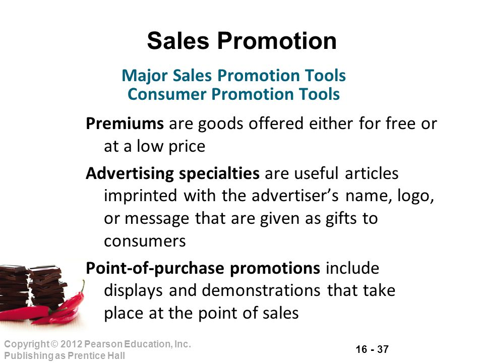 Major Sales Promotion Tools Consumer Promotion Tools