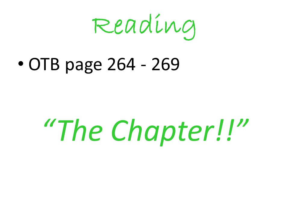 Reading OTB page 264 - 269 The Chapter!!