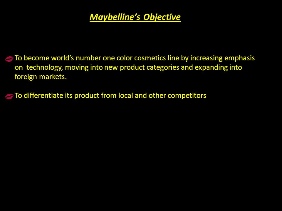 Maybelline's Objective