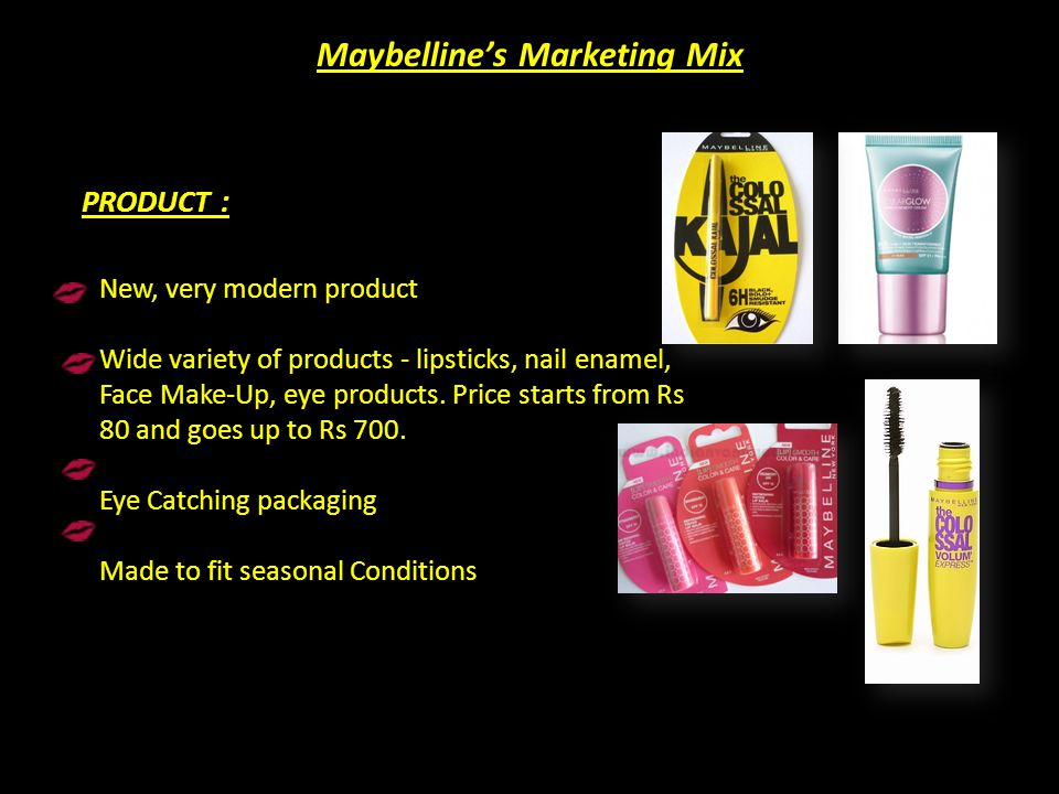 Maybelline's Marketing Mix