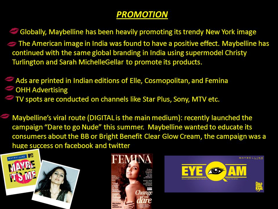 Ads are printed in Indian editions of Elle, Cosmopolitan, and Femina