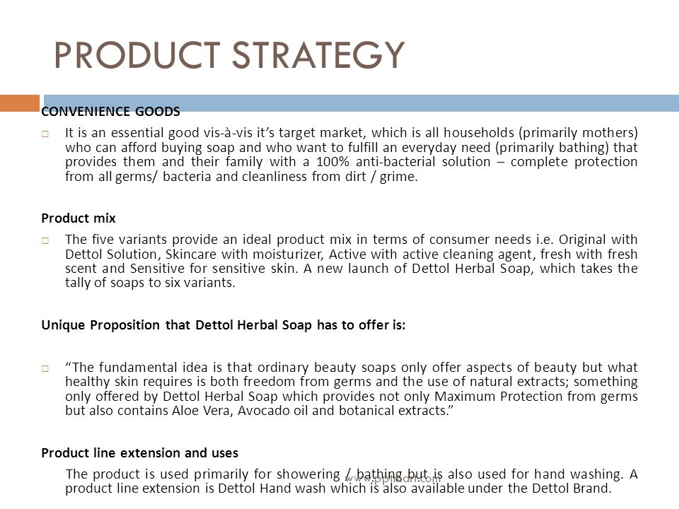 PRODUCT STRATEGY CONVENIENCE GOODS