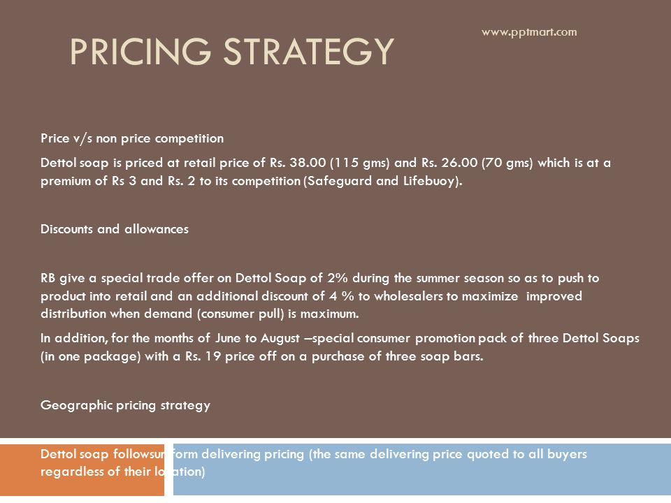 Pricing strategy Price v/s non price competition