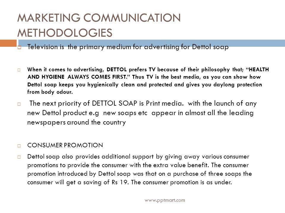 MARKETING COMMUNICATION METHODOLOGIES