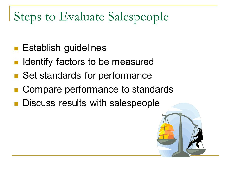 Steps to Evaluate Salespeople