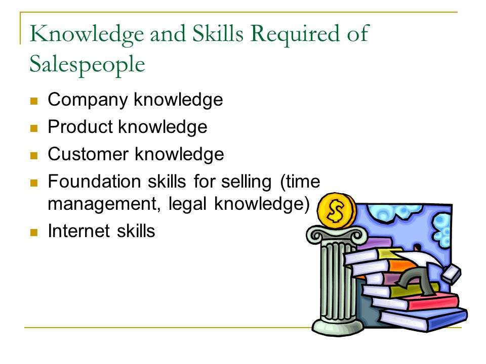 Knowledge and Skills Required of Salespeople