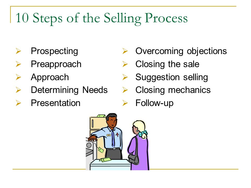10 Steps of the Selling Process