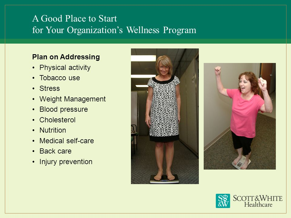 A Good Place to Start for Your Organization's Wellness Program