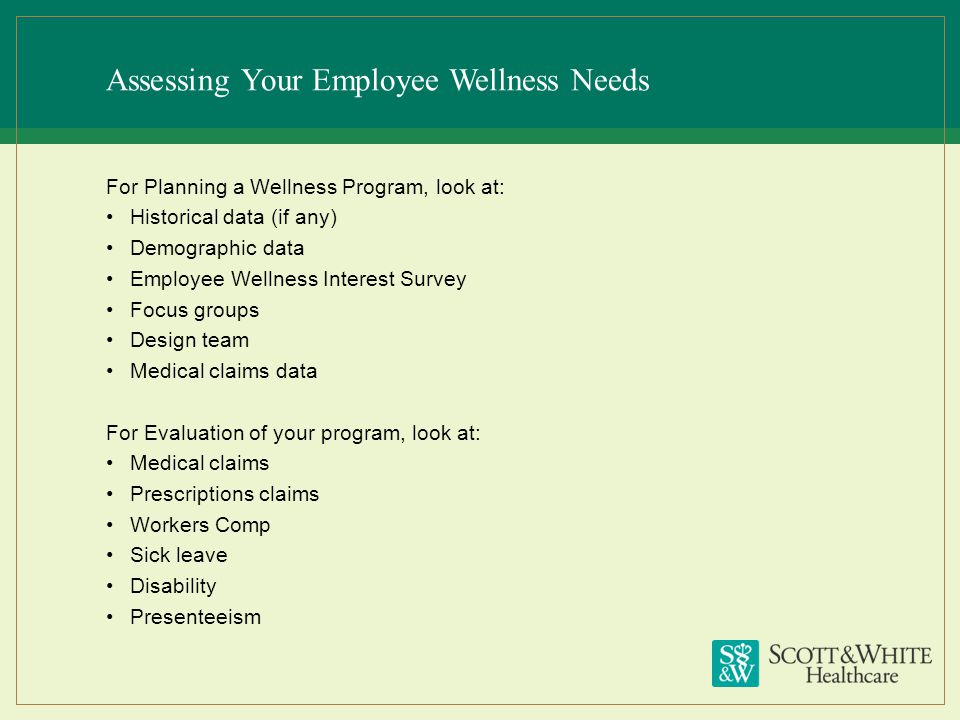 Assessing Your Employee Wellness Needs