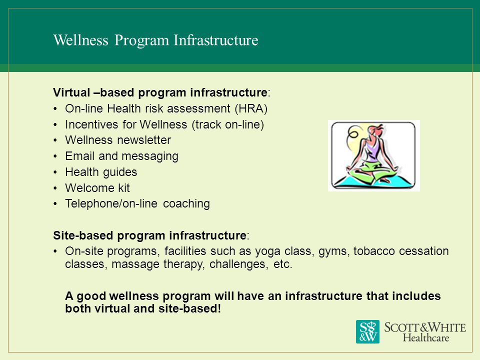 Wellness Program Infrastructure