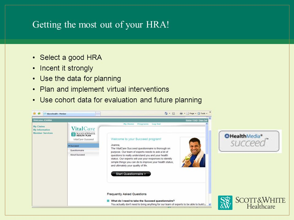 Getting the most out of your HRA!
