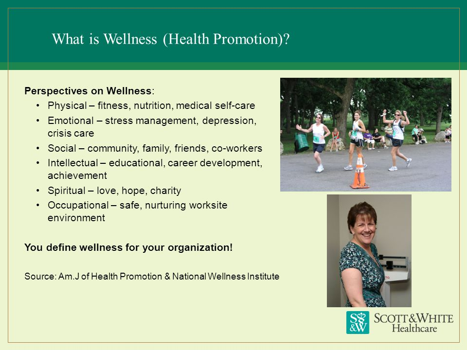 What is Wellness (Health Promotion)