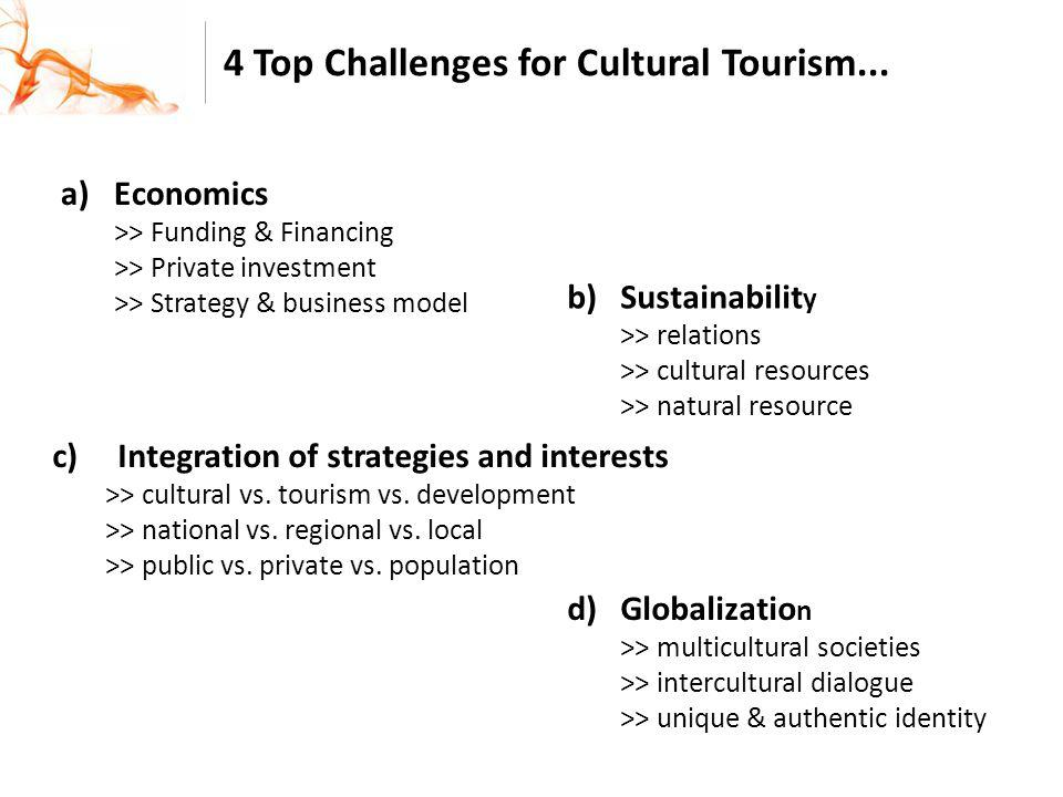 4 Top Challenges for Cultural Tourism...