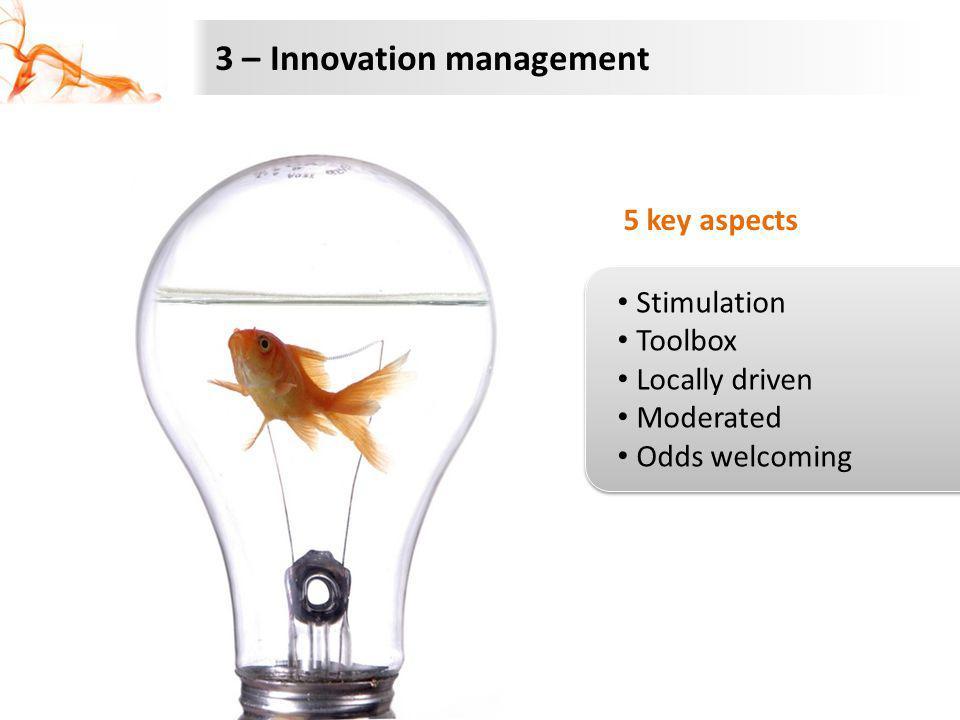 3 – Innovation management