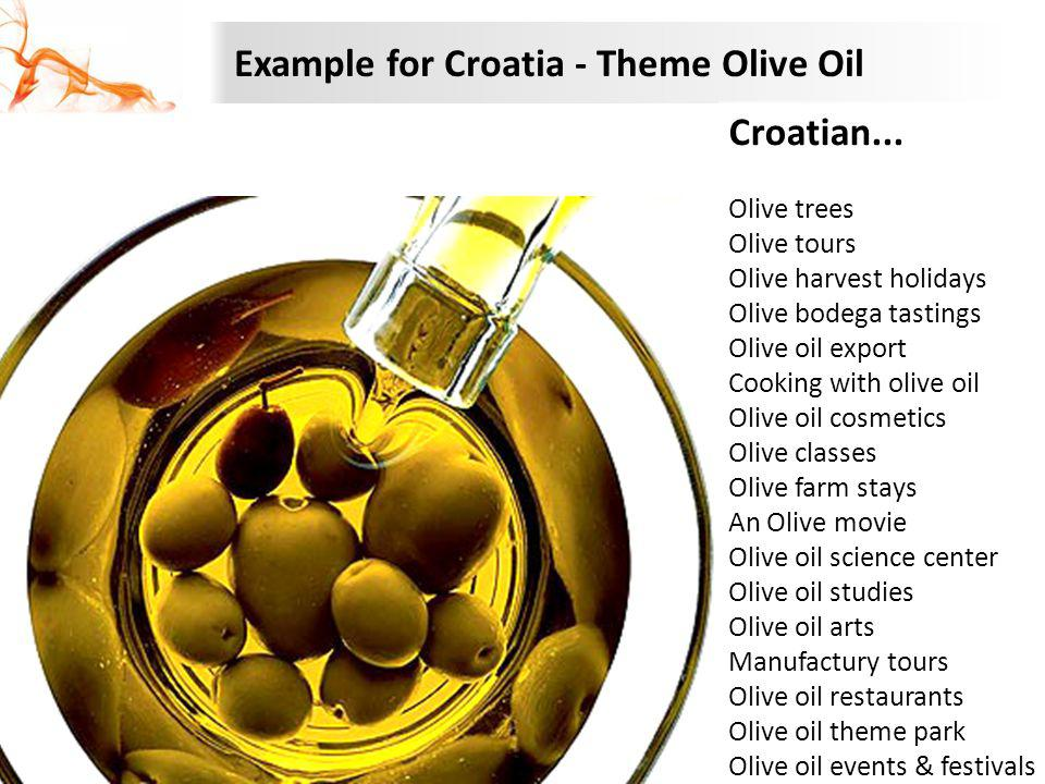 Example for Croatia - Theme Olive Oil