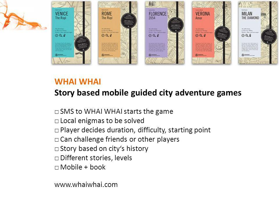Story based mobile guided city adventure games