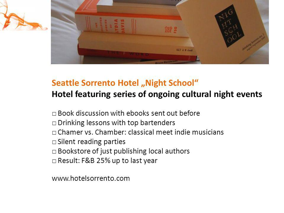 "Seattle Sorrento Hotel ""Night School"