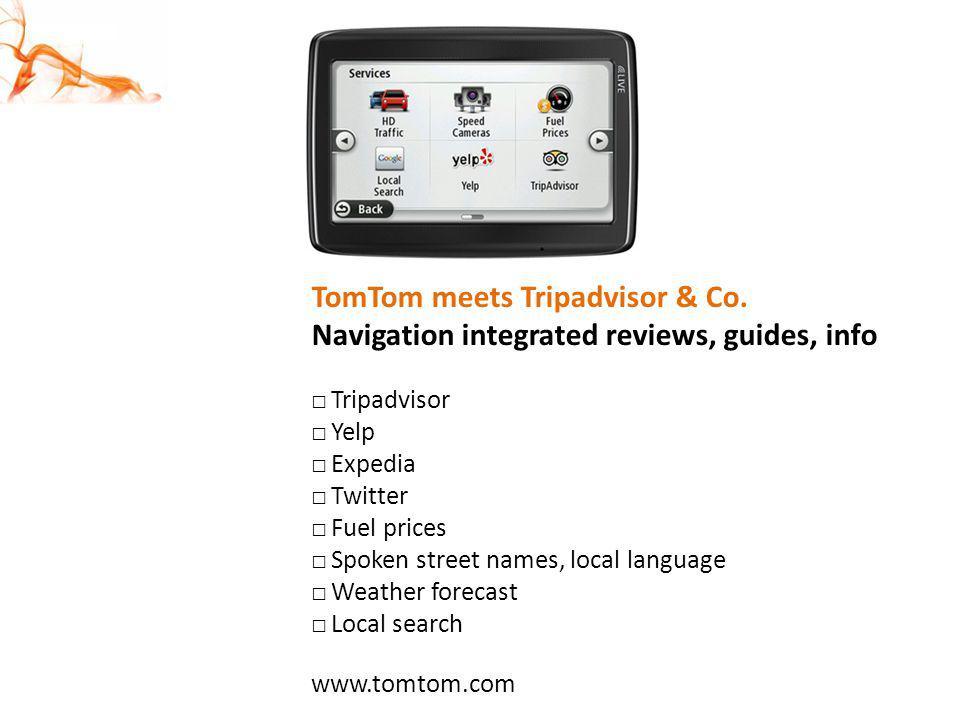 TomTom meets Tripadvisor & Co.