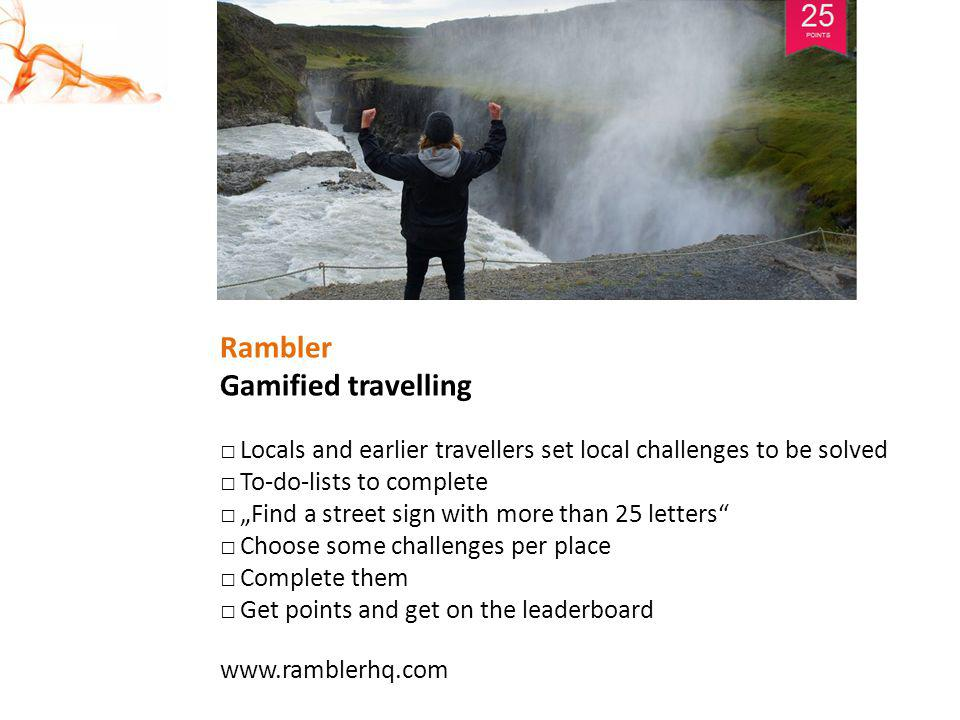 Rambler Gamified travelling