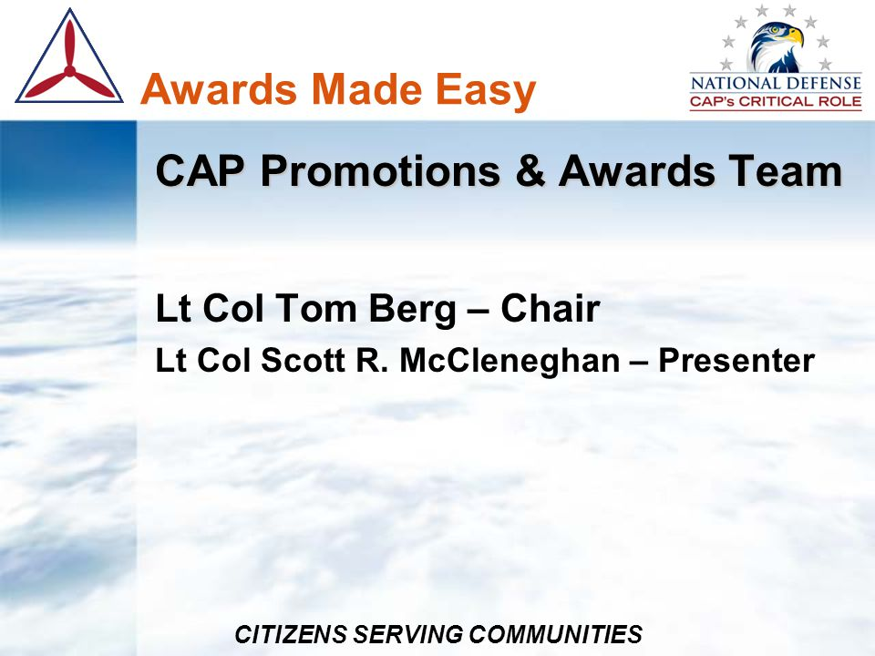 CAP Promotions & Awards Team