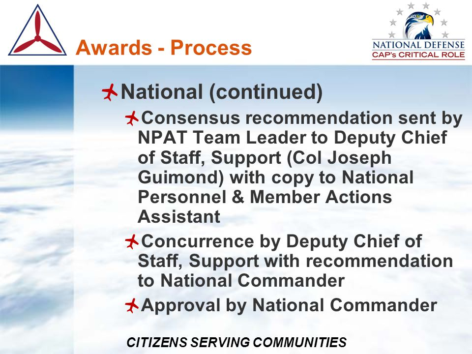 Awards - Process National (continued)
