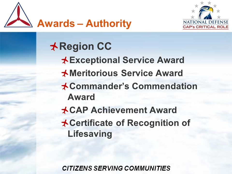 Awards – Authority Region CC Exceptional Service Award