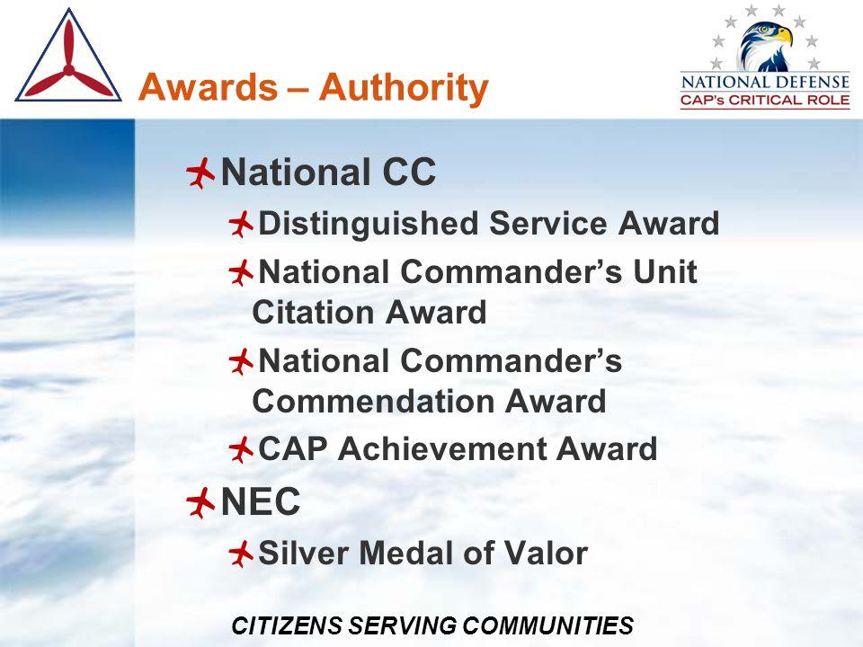 Awards – Authority National CC NEC Distinguished Service Award