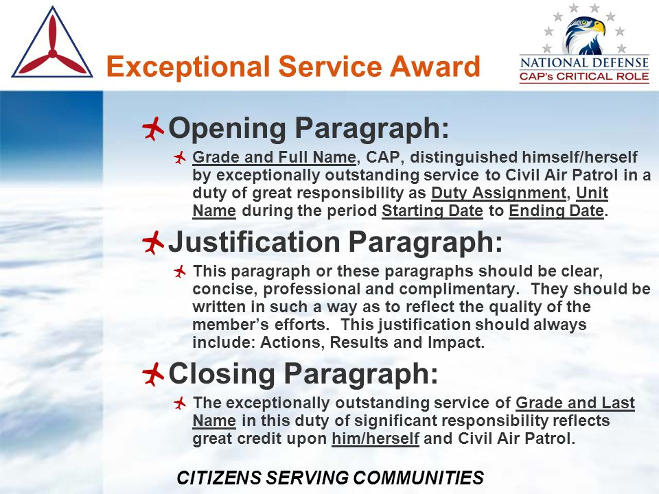 Exceptional Service Award