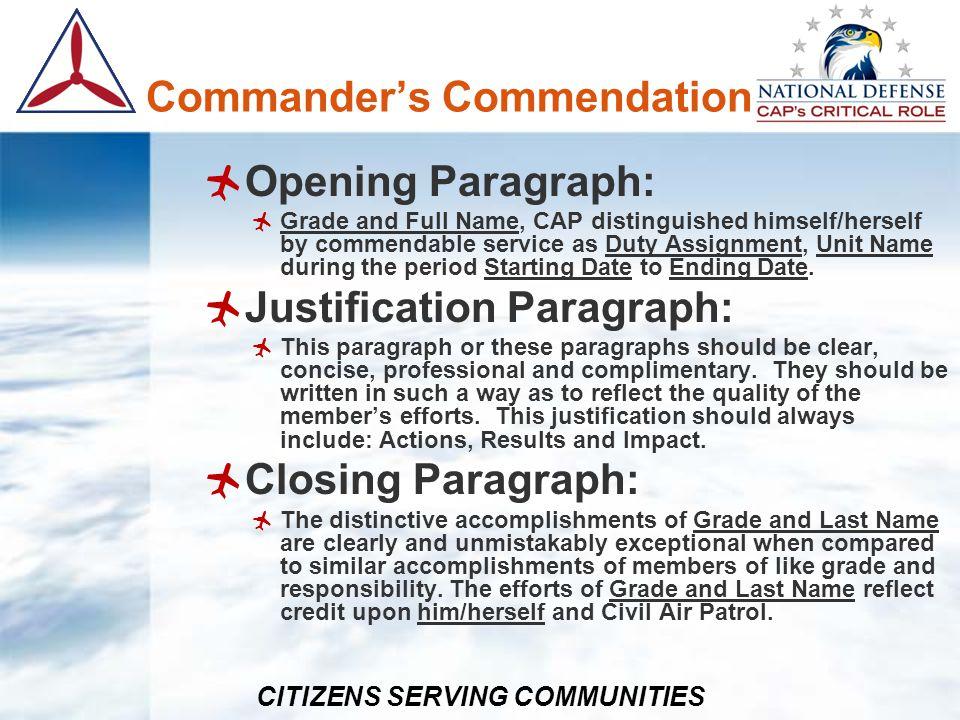 Commander's Commendation