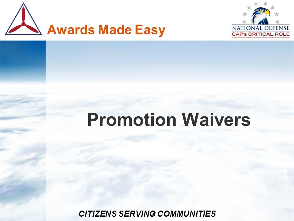 Awards Made Easy Promotion Waivers