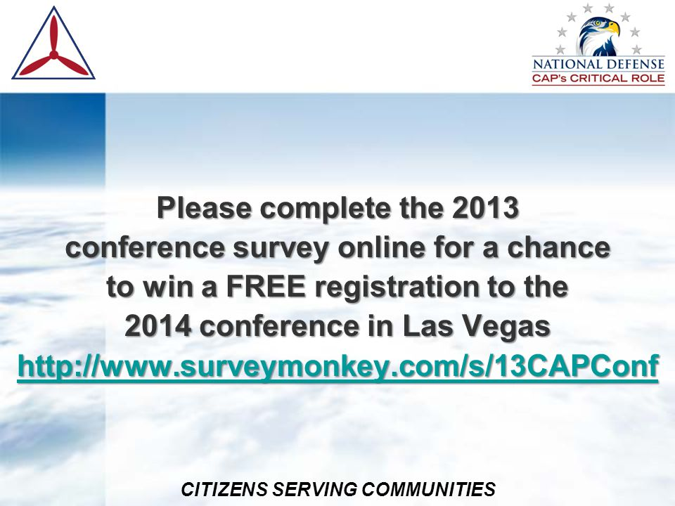 conference survey online for a chance