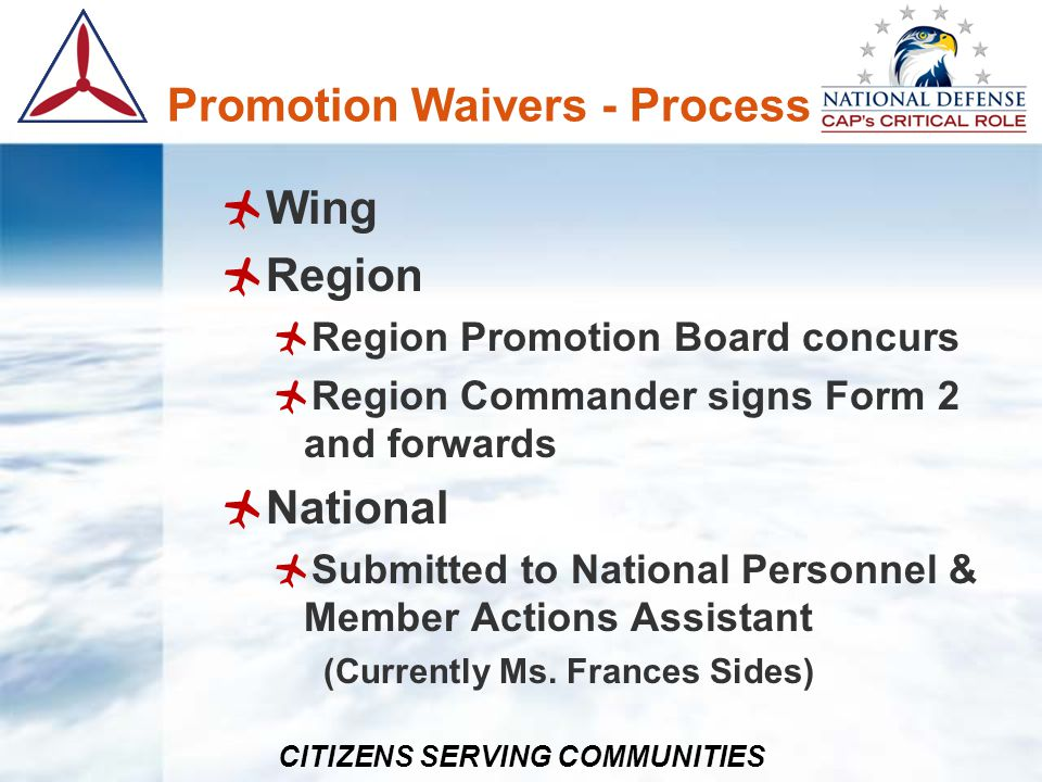 Promotion Waivers - Process