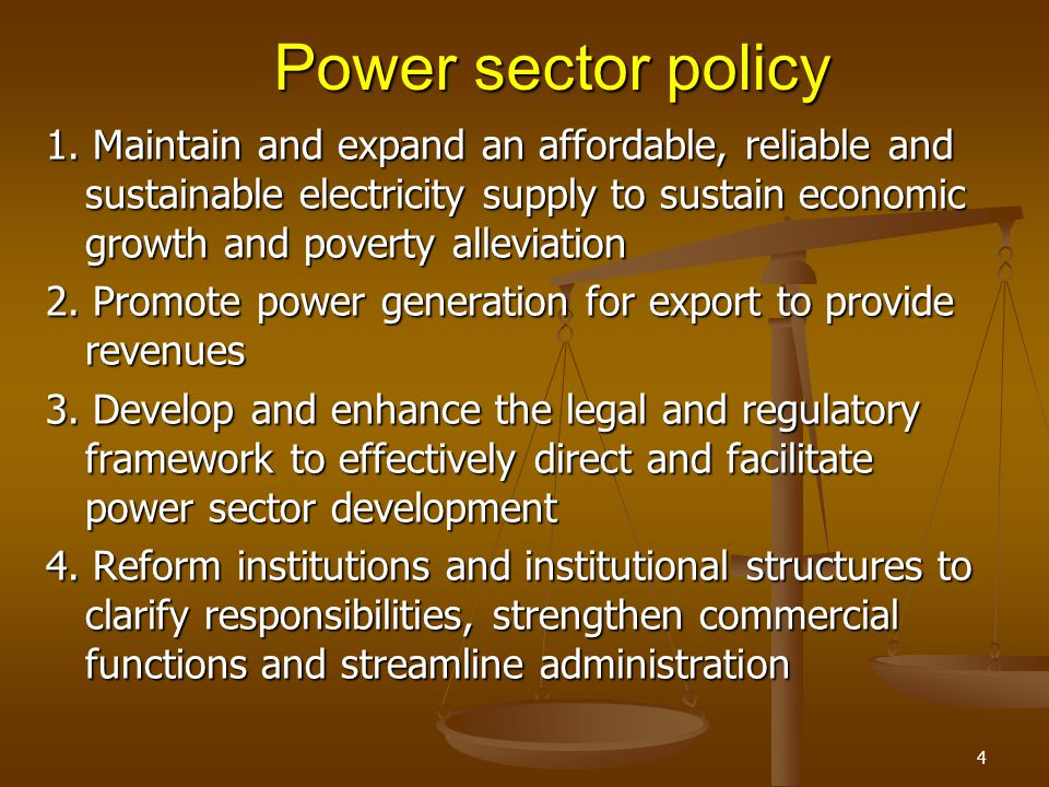 Power sector policy