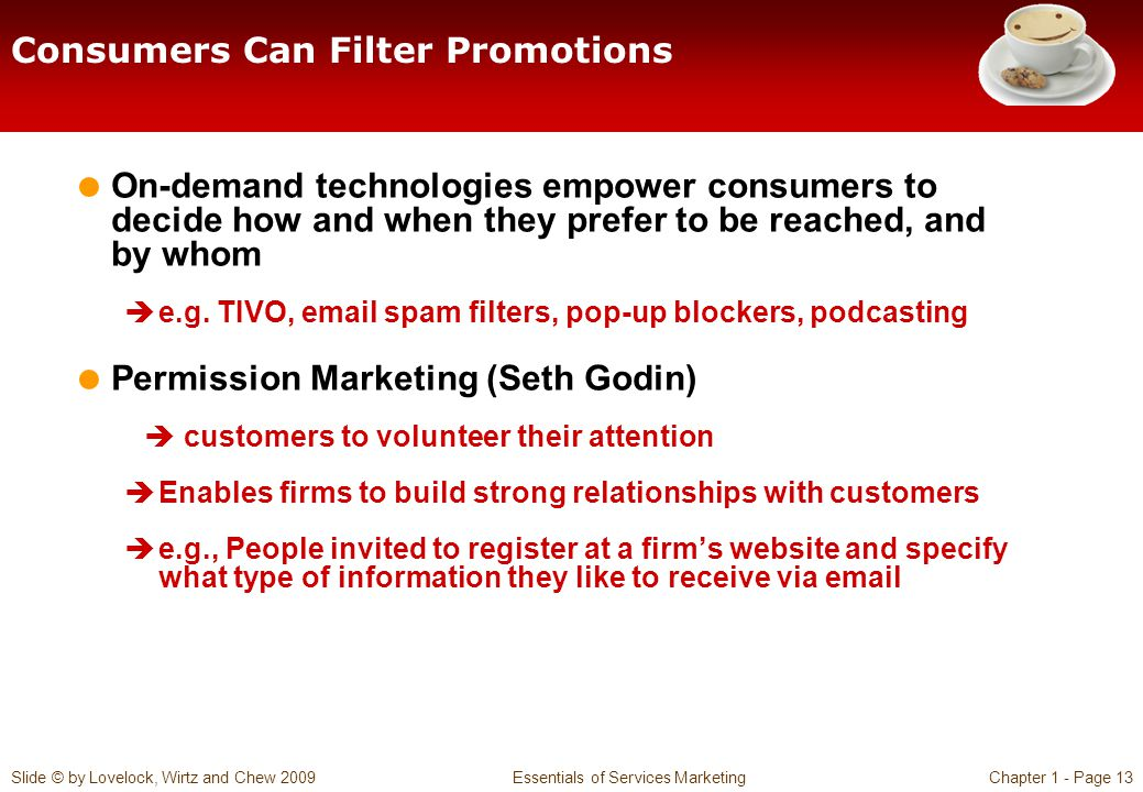Consumers Can Filter Promotions