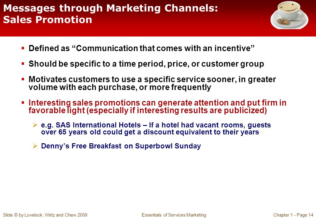 Messages through Marketing Channels: Sales Promotion