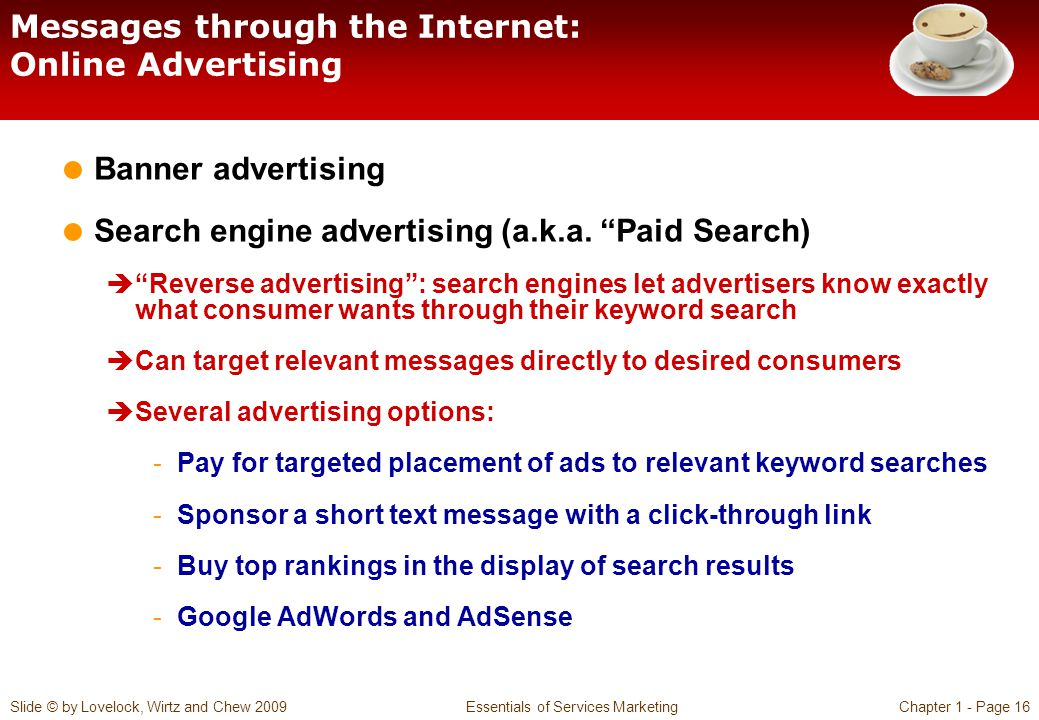 Messages through the Internet: Online Advertising