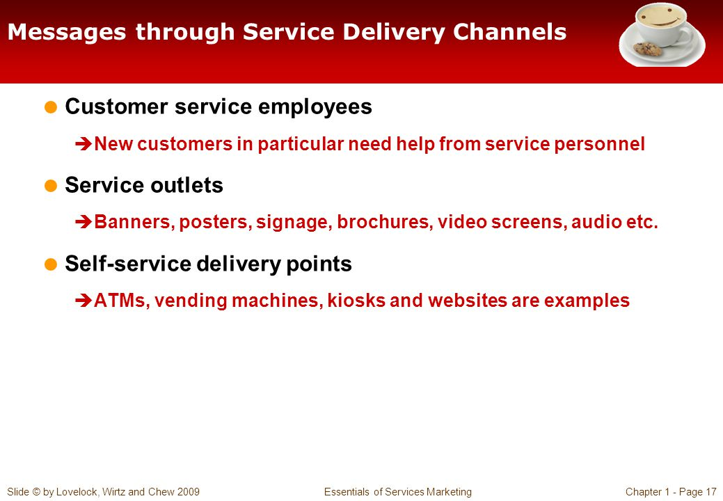Messages through Service Delivery Channels