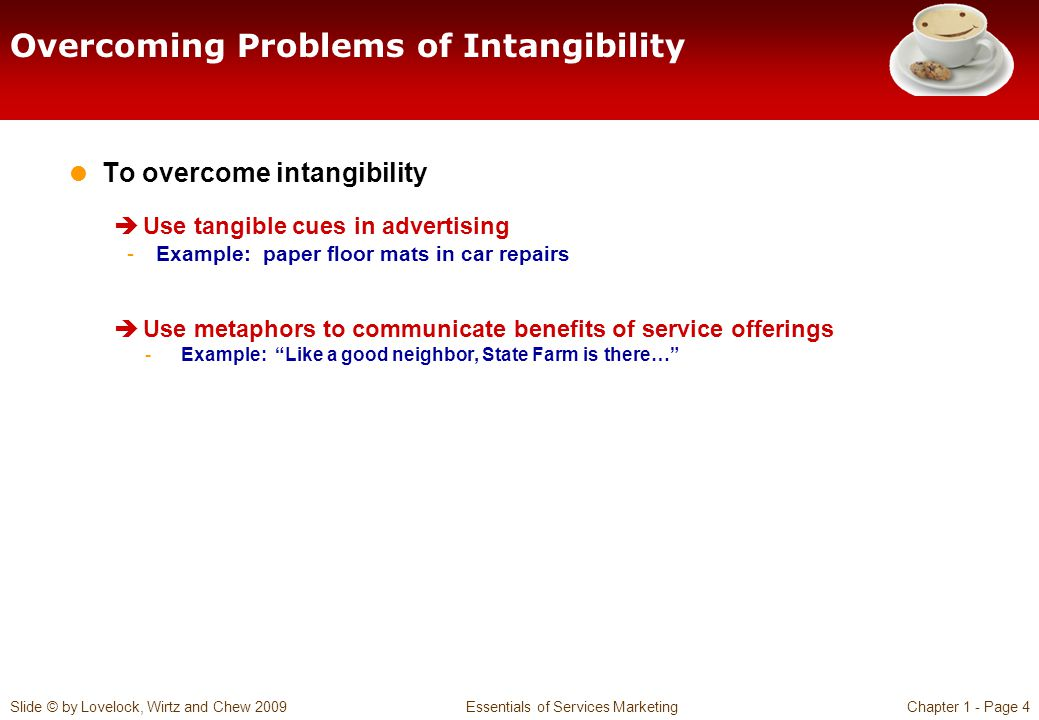 Overcoming Problems of Intangibility