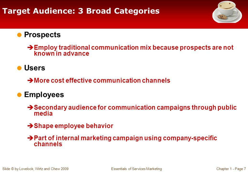 Target Audience: 3 Broad Categories