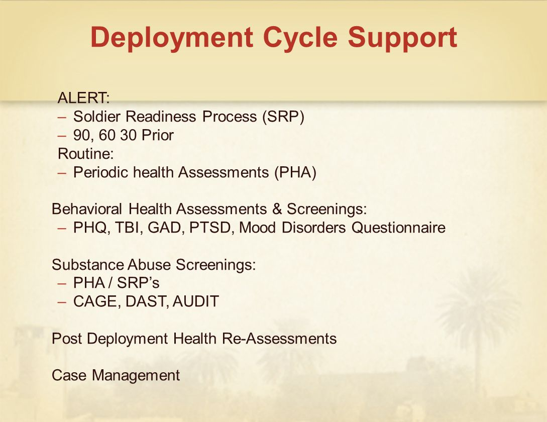 Deployment Cycle Support