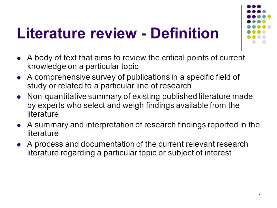 Literature review - Definition