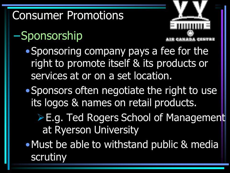 Consumer Promotions Sponsorship