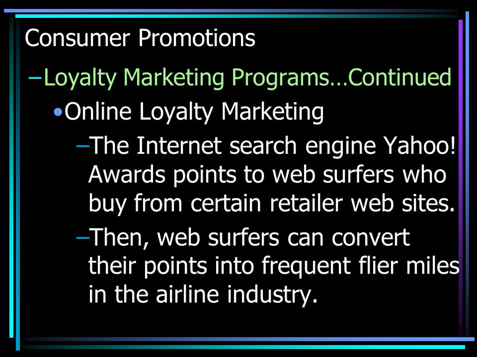 Online Loyalty Marketing
