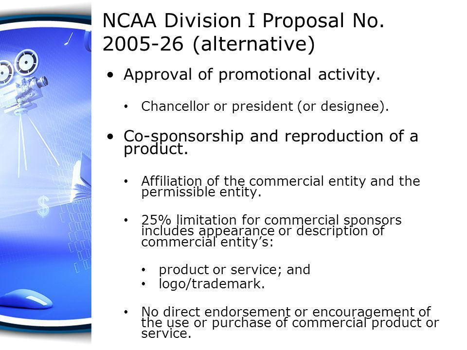 NCAA Division I Proposal No. 2005-26 (alternative)