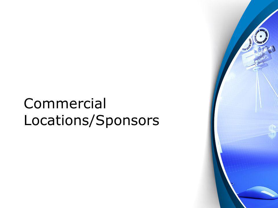 Commercial Locations/Sponsors