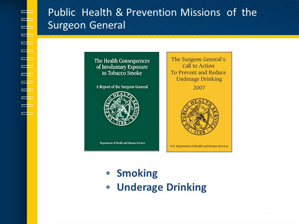 Public Health & Prevention Missions of the