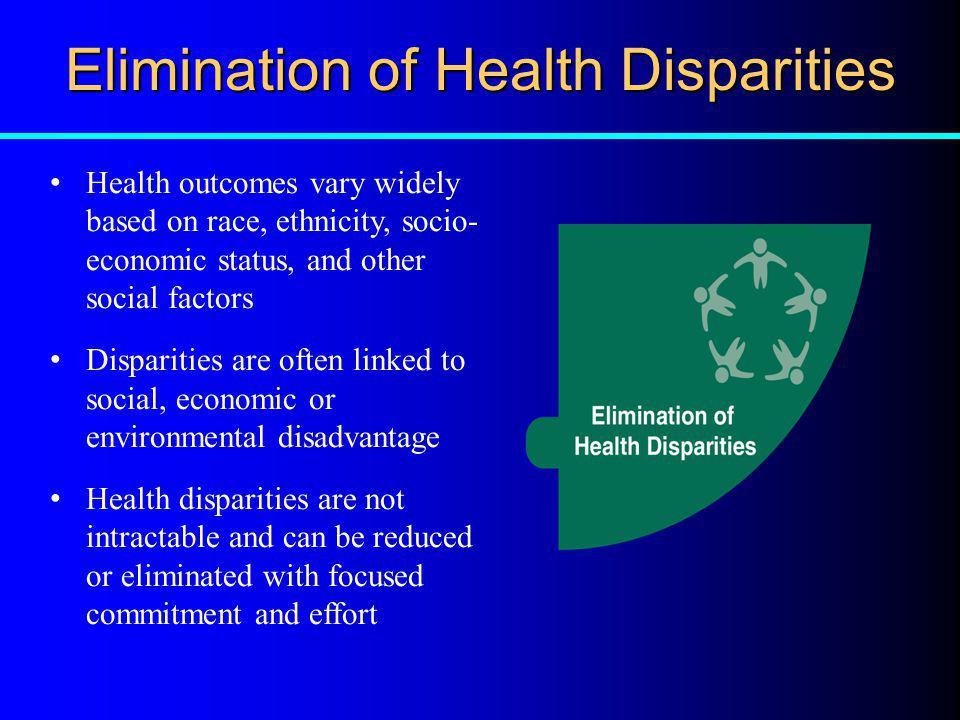 Elimination of Health Disparities