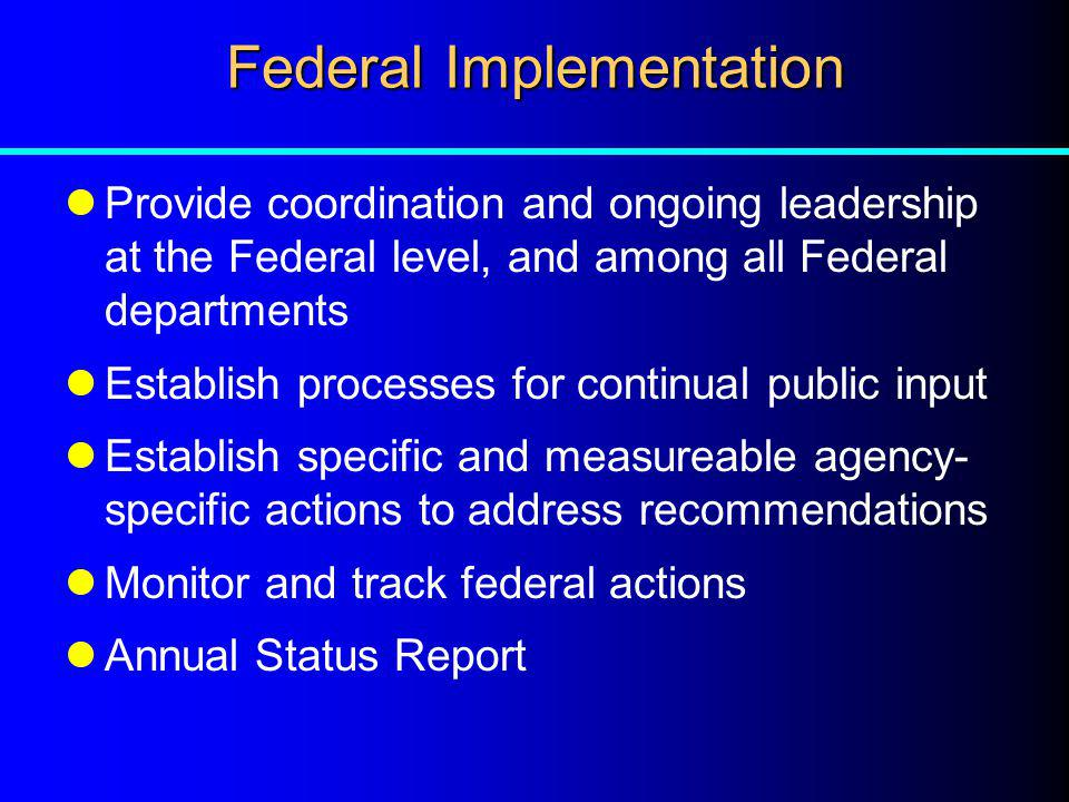 Federal Implementation